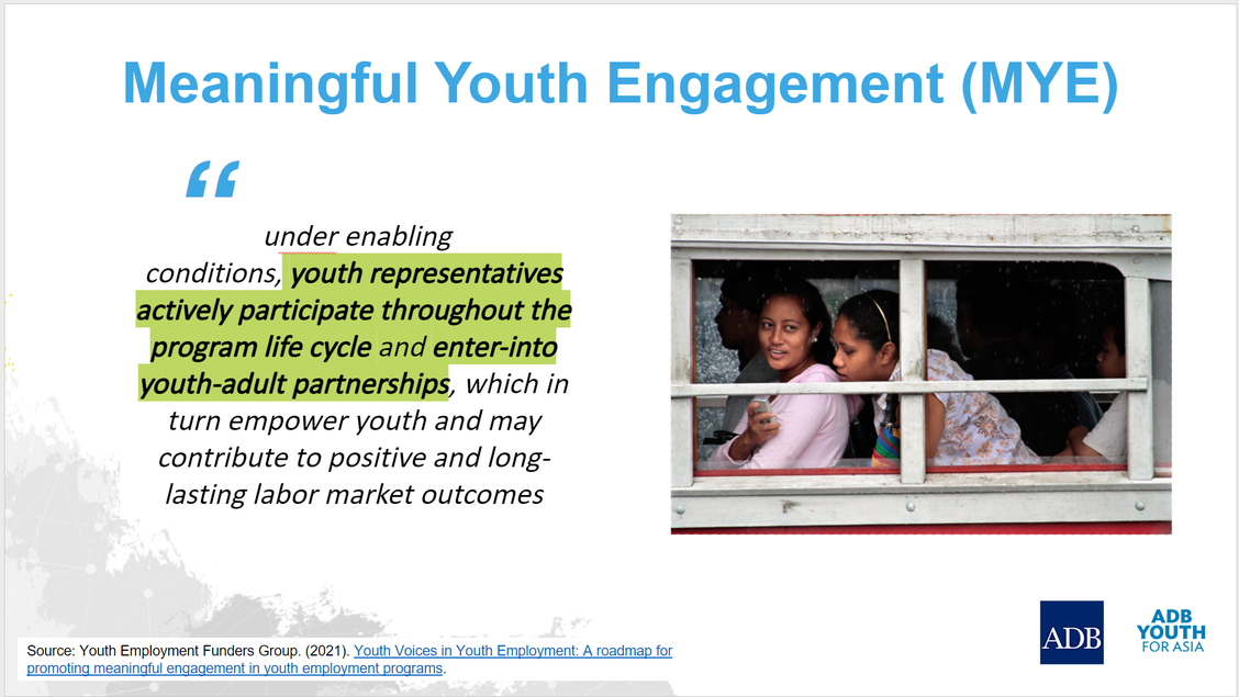A screencap of the Youth for Asia presentation