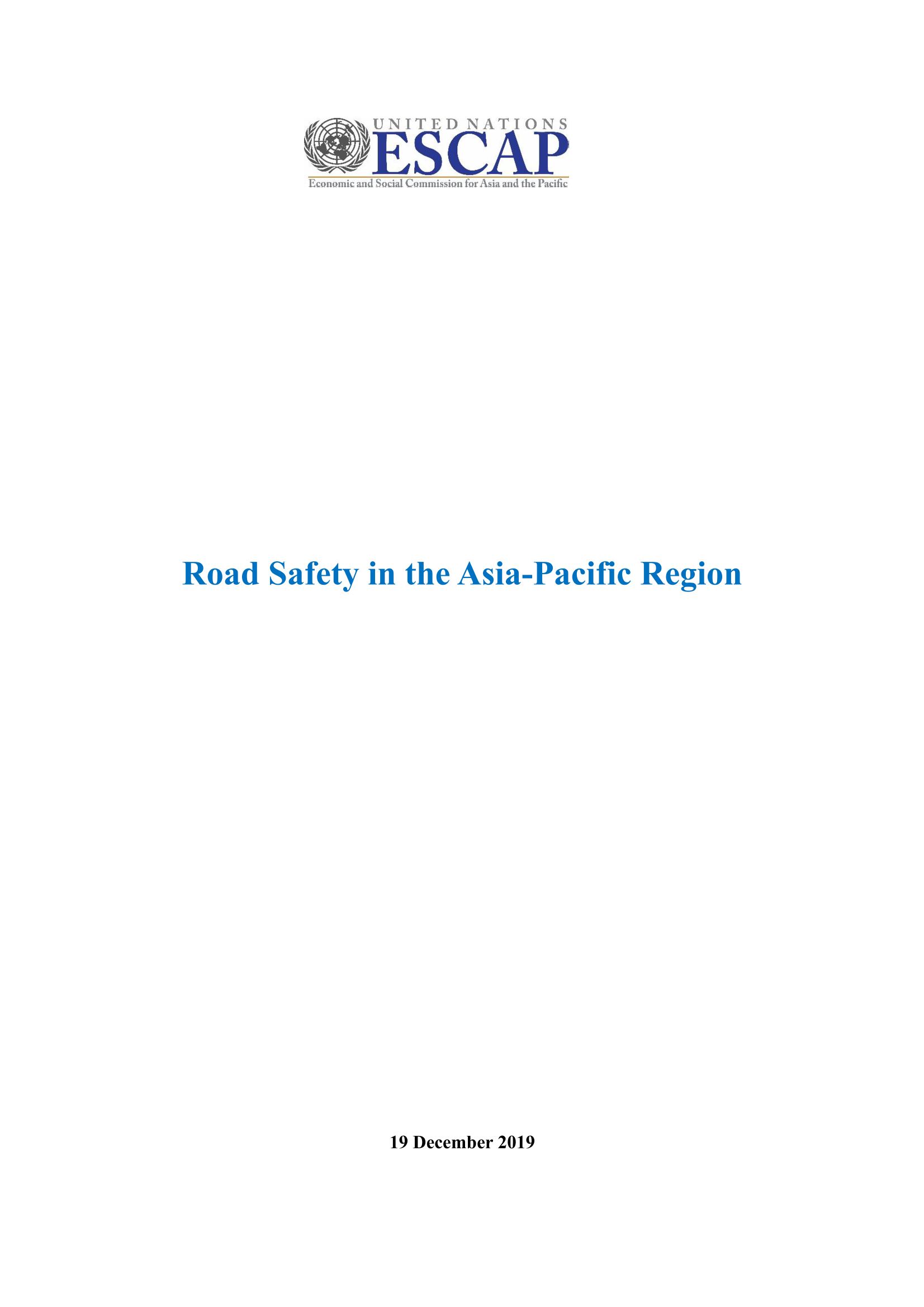Road Safety in the Asia-Pacific Region