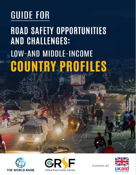 The cover to Guide for Road Safety Opportunities and Challenges: Low and Middle-Income Country Profiles